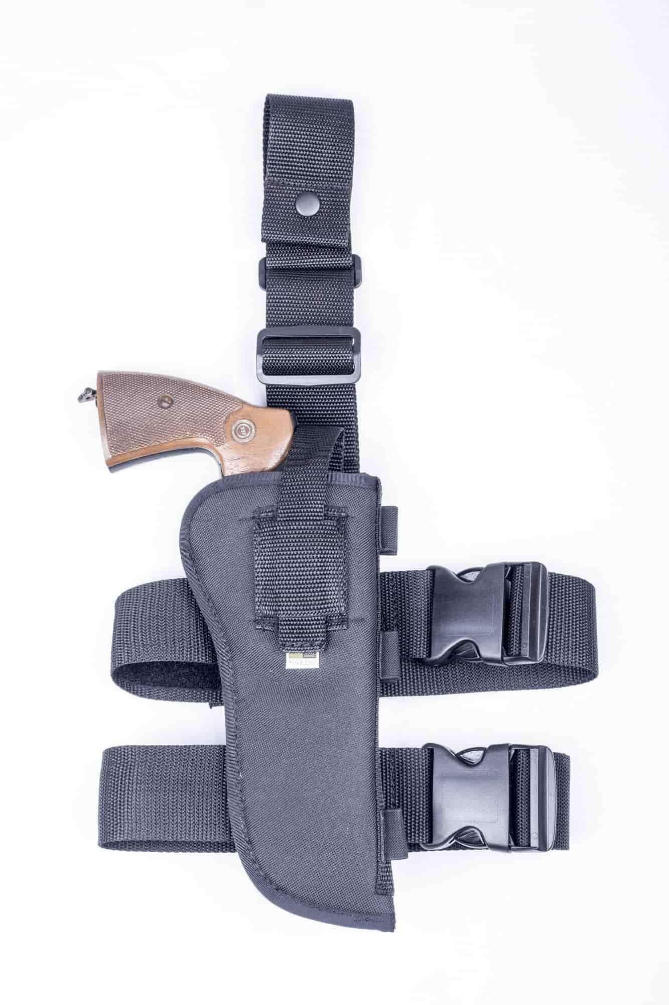 NTAC11 · Nylon Thigh Holster with Ammo Loops · For most 6 5-7