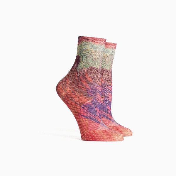 Women's Collage Socks - Beetroot Purple