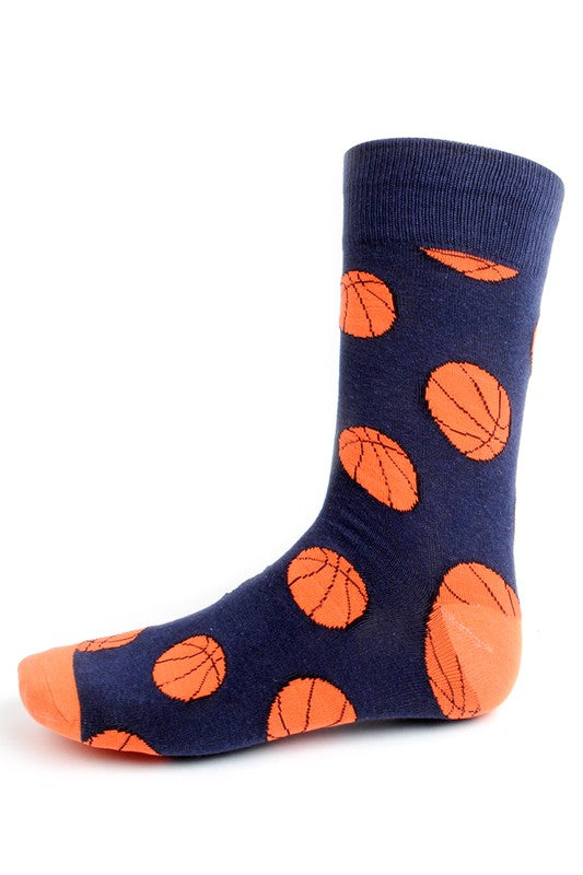 Men's Navy Basketball Socks