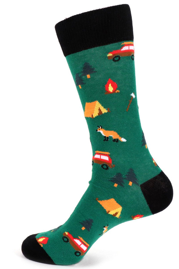 Men's Green Camping Socks (Fox)