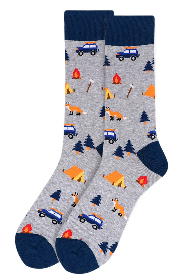 Men's Grey Camping Socks (Fox)