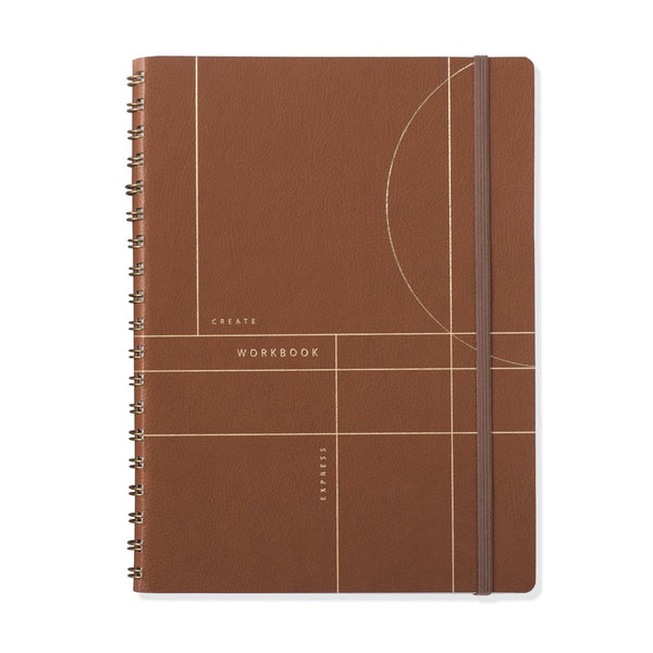 Cognac Circle Grid Large Workbook