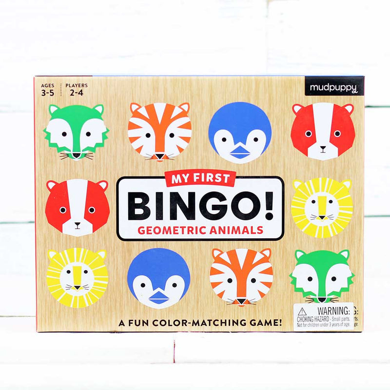 Geometric Animals My First Bingo