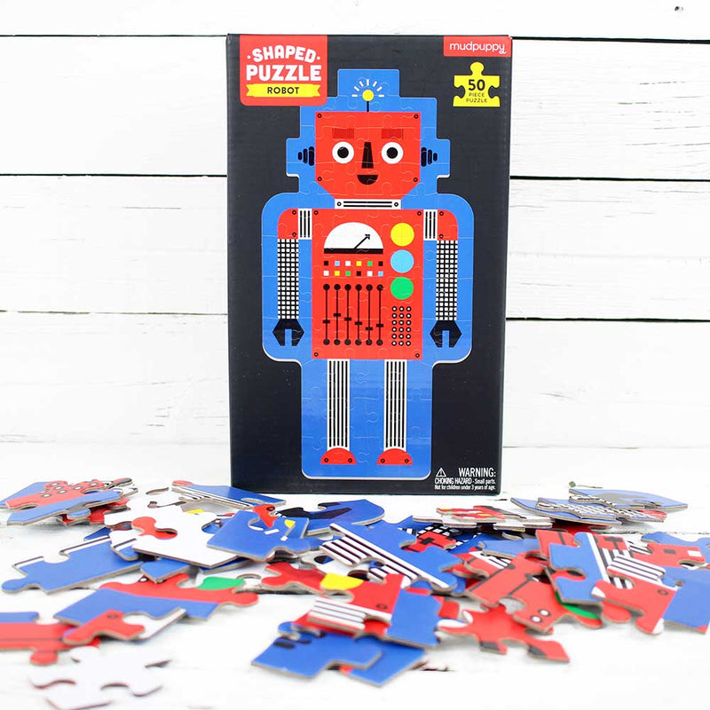 Robot 50 Piece Shaped Character Puzzle