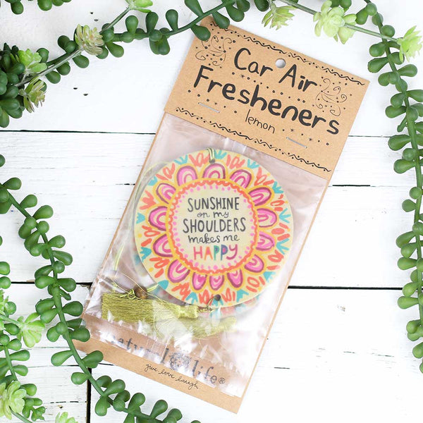 "Air Freshener "" Sunshine on my Shoulders"""