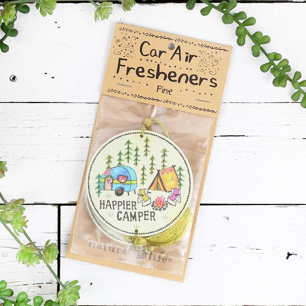 "Air Freshener ""Happier Camper"""