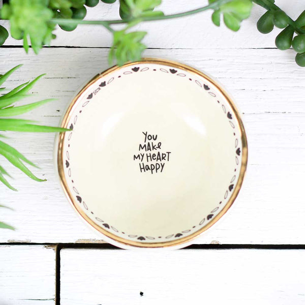 "Giving Trinket Bowl ""You Make My Heart Happy"""
