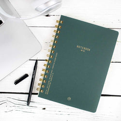 Textured Paper Twin Wire Notebook Medium - Pacific Forest