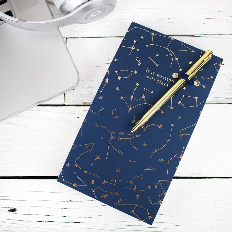 List Pad w/ Gold Pen - Constellations