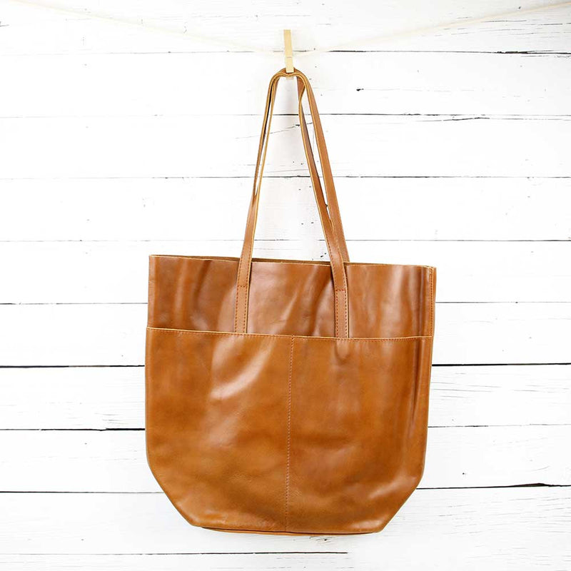 FINAL SALE Selam Magazine Tote - Chestnut