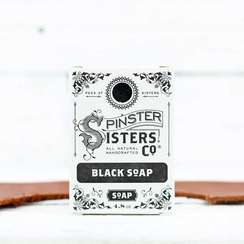 FINAL SALE Spinster Sisters Co. Bath Soap - Black Soap