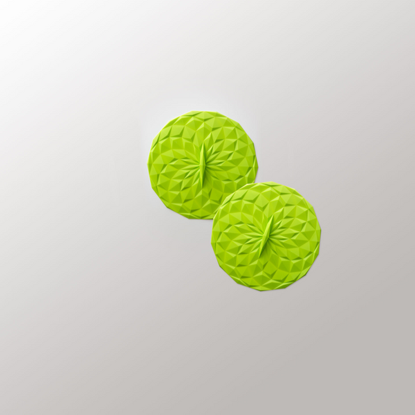 4in Round 2pk Suction Lid - Lime