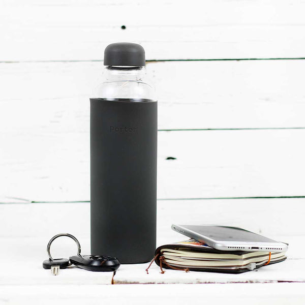 FINAL SALE Portable Glass Water Bottle