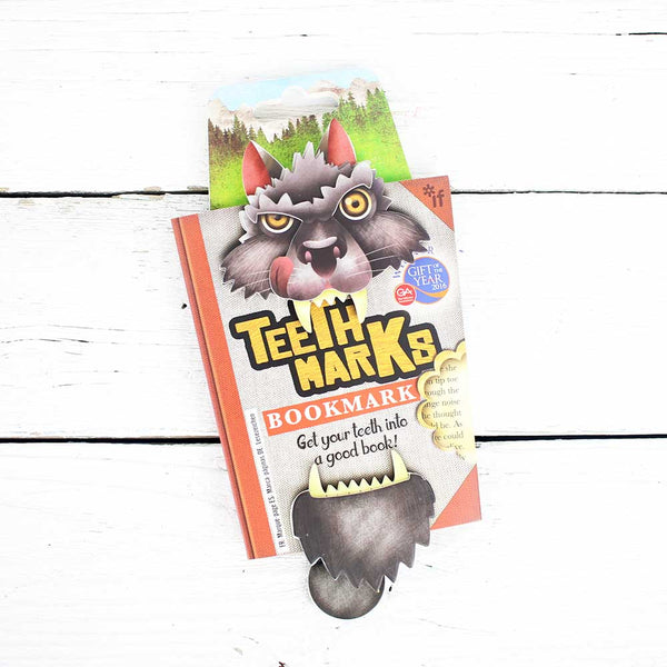 Teeth Marks Bookmark - Wolf