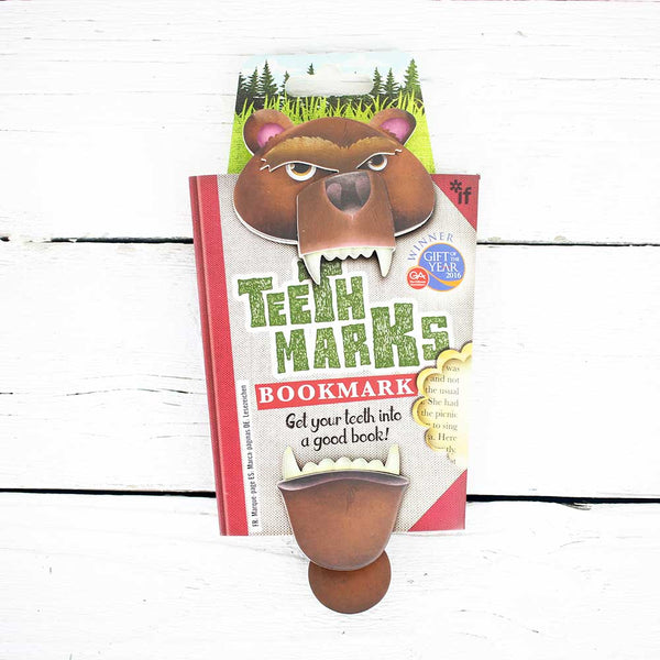 Teeth Marks Bookmark - Bear