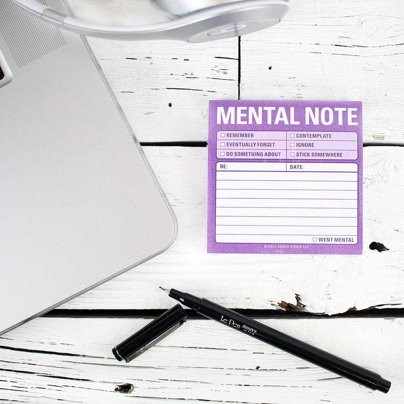Sticky Note: Mental Note