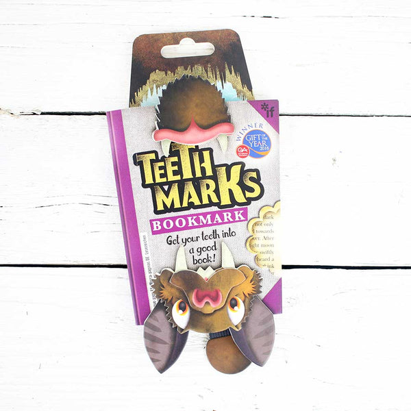 Teeth Marks Bookmark - Bat
