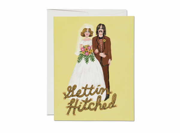 Gettin' Hitched Wedding Card