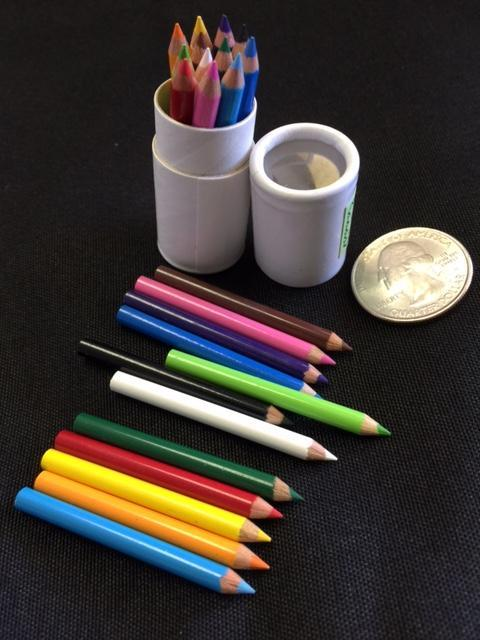 12 Mini Colored Pencils