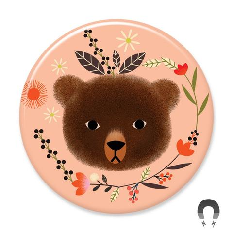 Peach Bear Magnet
