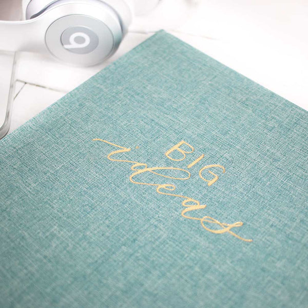 Seafoam Book Cloth - Big Ideas