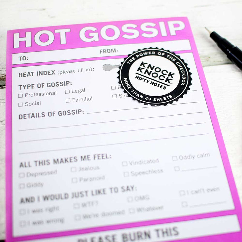 Nifty Note: Hot Gossip