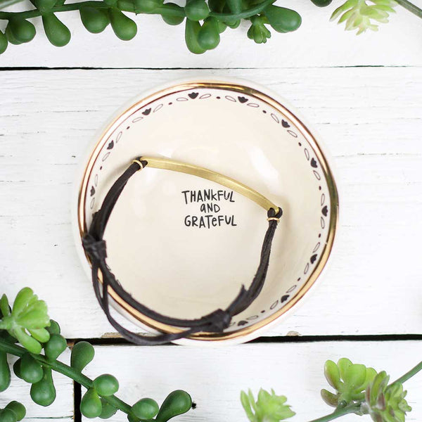 "Giving Trinket Bowl ""Thankful & Grateful"""