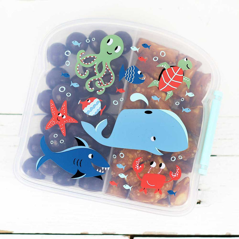 FINAL SALE  Good Lunch Sandwich Box Ocean
