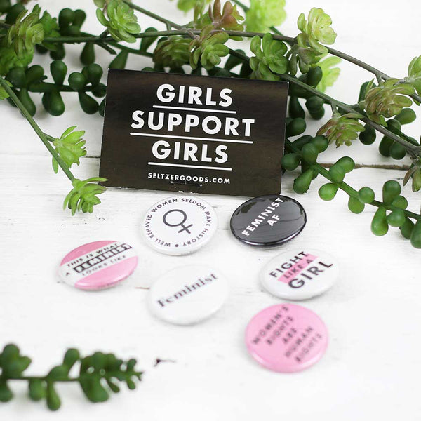 Girls Support Girls Button Pack