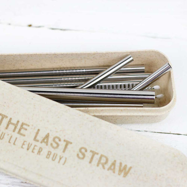 Stainless Steel Straw Set - This Is The Last Straw