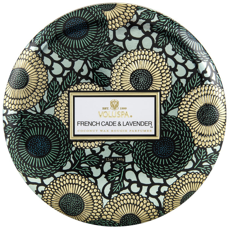 3 Wick Tin Candle - French Cade Lavender