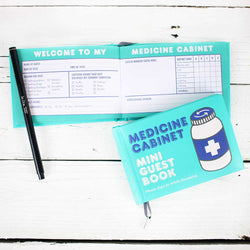 Knock Knock Mini Guest Book: Med Cabinet