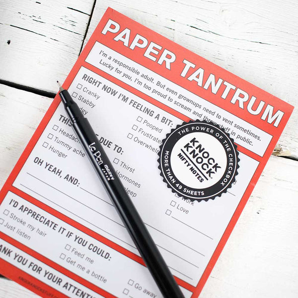 Nifty Note: Paper Tantrum