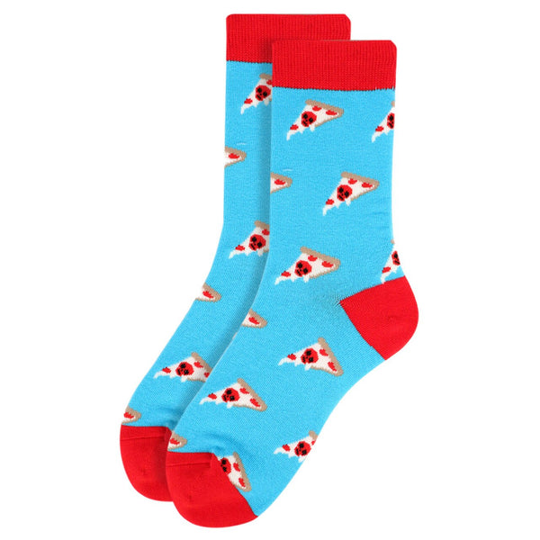 Men's Blue Pizza Socks