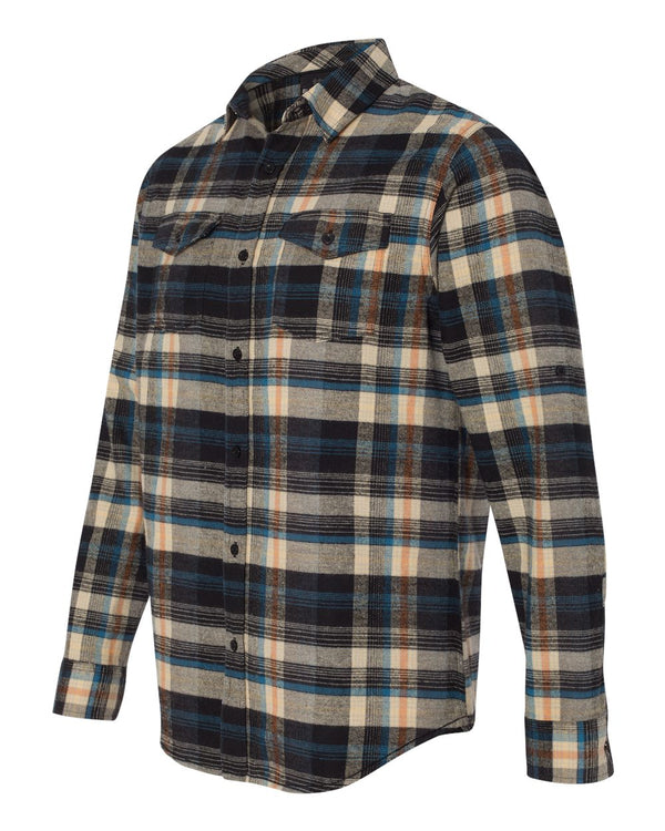 Yarn-Dyed Long Sleeve Flannel Shirt