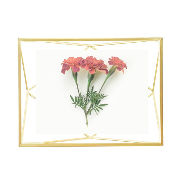 Prisma Photo Frame - 4x6 Matte Brass