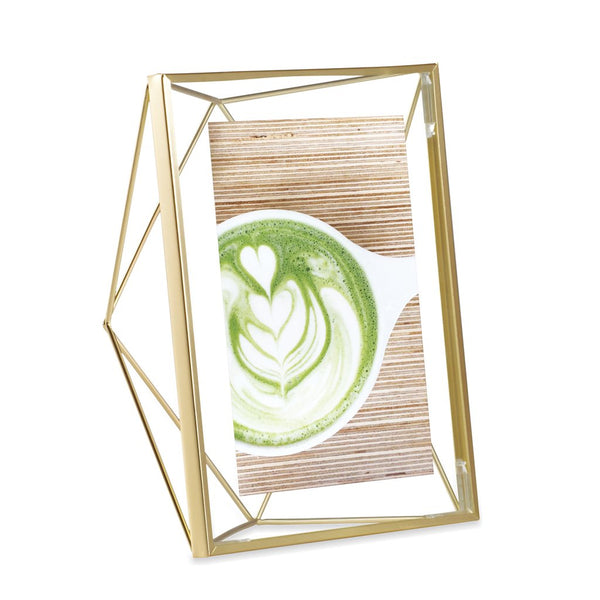 Prisma Photo Frame - 5x7 Matte Brass
