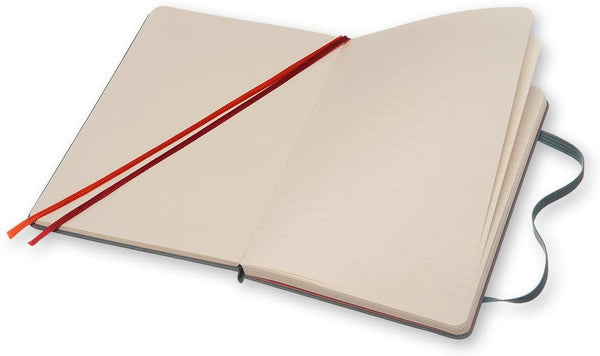 Two-Go Plain/Ruled Medium Notebook - Saxe Blue