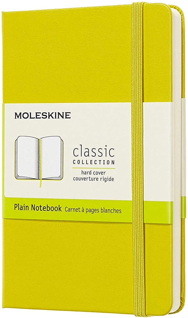 Moleskine Classic Plain Hard Cover Notebook -Citron Yellow