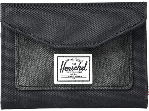 Orion Wallet - Black/Black Crosshatch