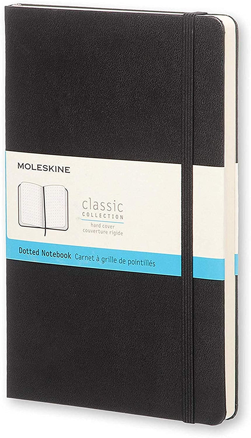 Classic Large Dotted Notebook - Black