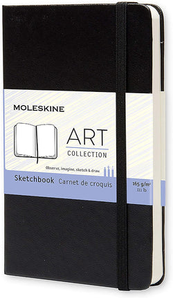 Sketchbook Pocket Plain Hard Cover - Black