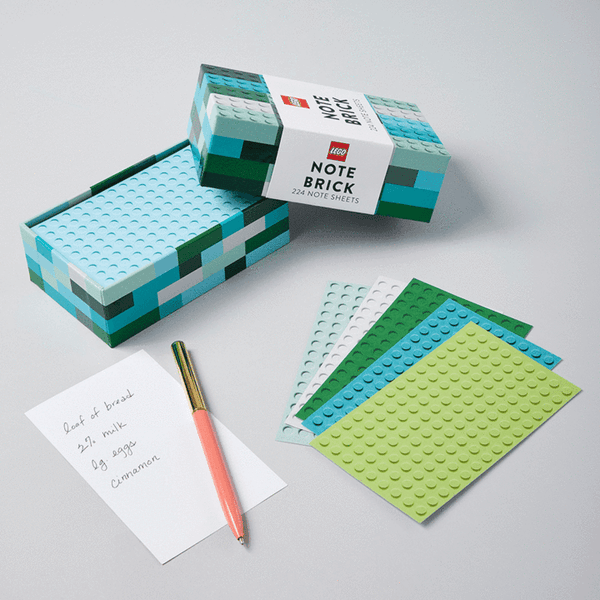 LEGO Note Brick - Blue/Green