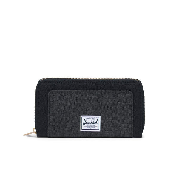 Thomas Wallet - Black/Black Crosshatch