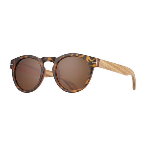 Cortez - Frost Tortoise/Walnut Wood/Brown Polarized
