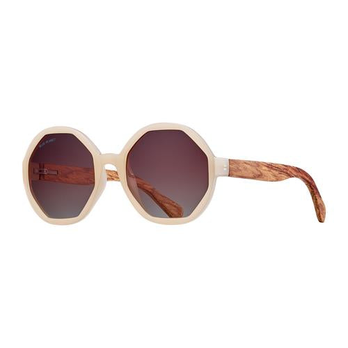 Donna - Beige/Walnut Wood/Gradient Brown Polarized