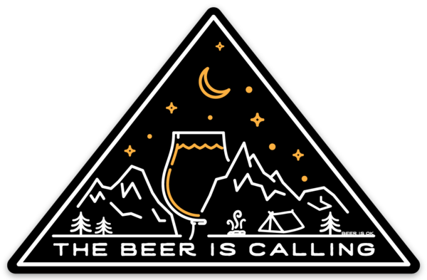 Beer Is Calling Triangle Sticker