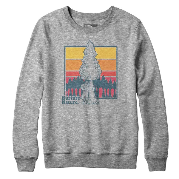 Bigfoot Nurtures Nature Crew Sweatshirt