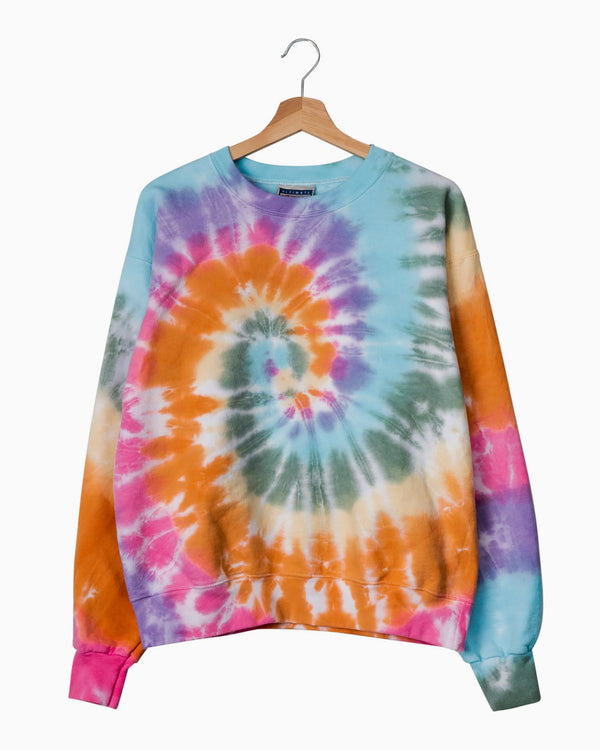 Fall Multi Swirl Tie Dye Sweatshirt