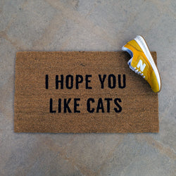 I Hope You Like Cats Doormat